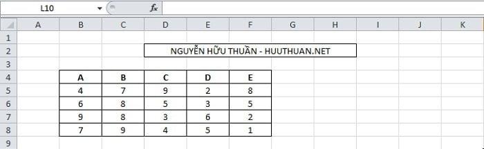Chuyển hàng thành cột hoặc ngược lại trong Excel