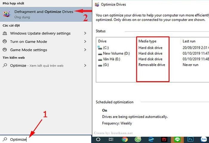 máy tính đang dùng ổ SSD hay HDD