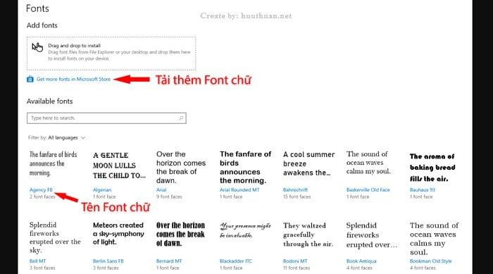 Mẹo cài đặt Font chữ mới trên windows 10 đơn giản 3