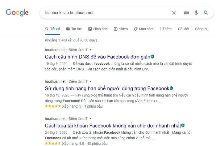Mẹo tìm đâu trúng đó trên Google cực đơn giản 3