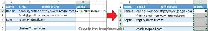 Mẹo xóa hoặc ẩn hàng trống trong Excel đơn giản 13