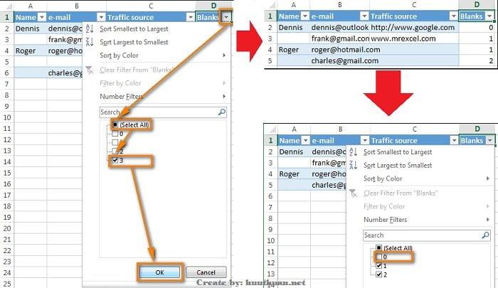 Mẹo xóa hoặc ẩn hàng trống trong Excel đơn giản 14