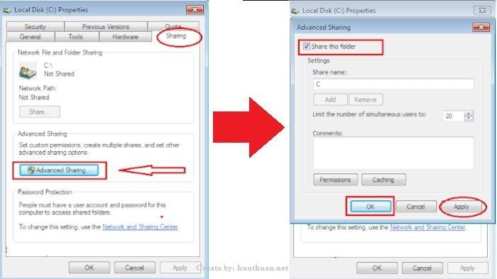 Mẹo chia sẻ dữ liệu giữa hệ điều hành Windows đơn giản nhất 7
