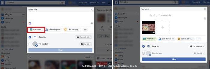 tải Video HD lên Facebook