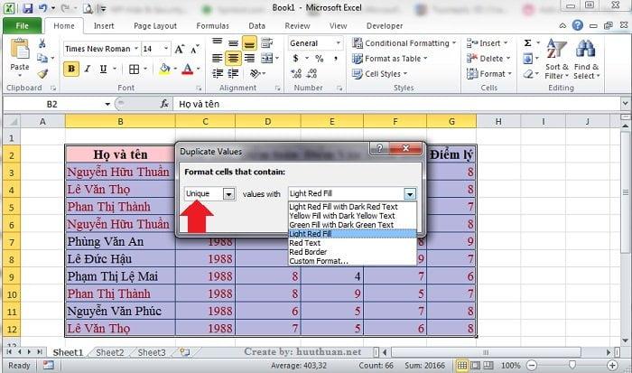 6 mẹo lọc dữ liệu trùng Excel chuẩn xác nhất 3