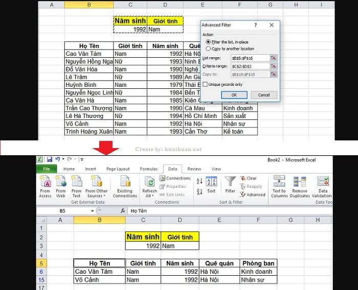 6 mẹo lọc dữ liệu trùng Excel chuẩn xác nhất 7