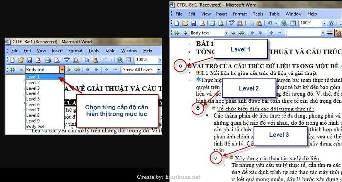 Mẹo tạo mục lục tự động Word đơn giản nhất 1