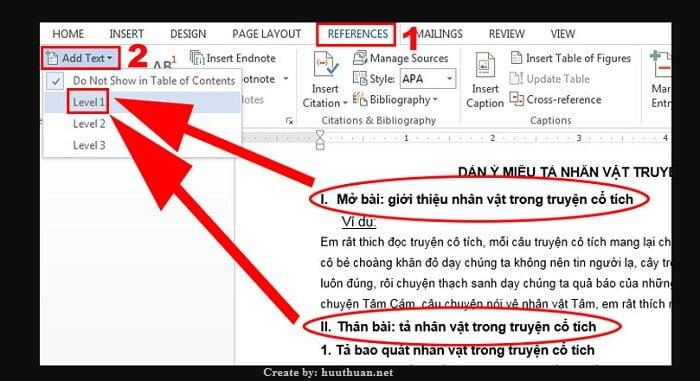 Mẹo tạo mục lục tự động Word đơn giản nhất 3