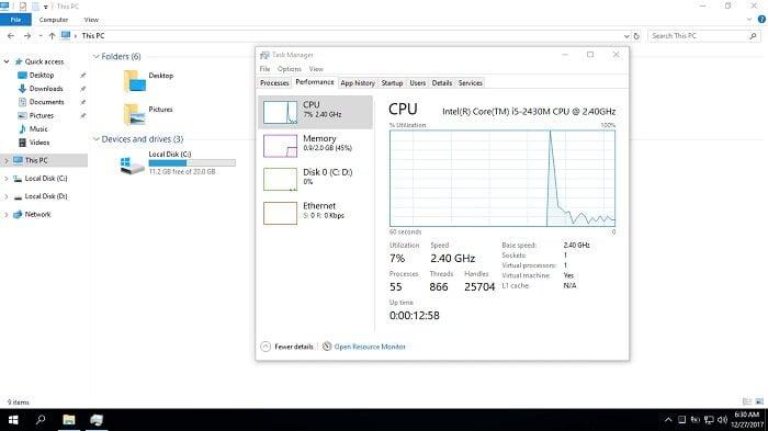 Tải Ghost Windows 10 Pro Lite version 1709 nhẹ như mây 2