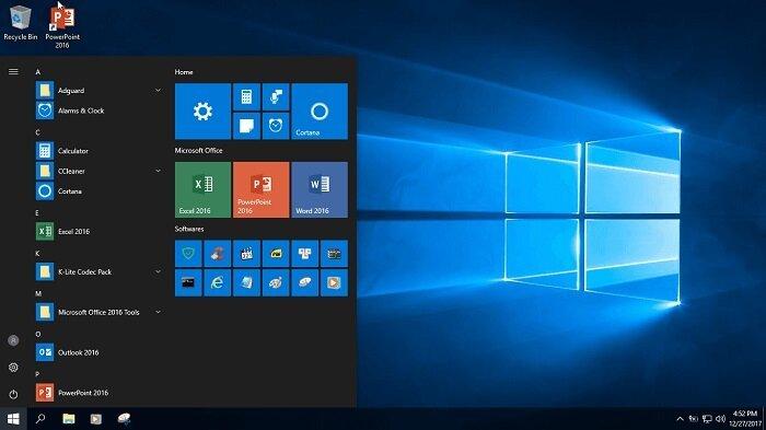 Tải Ghost Windows 10 Pro Lite version 1709 nhẹ như mây 5