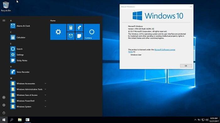 Tải Ghost Windows 10 Pro Lite version 1709 nhẹ như mây
