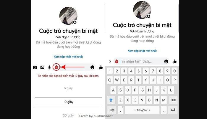 Mẹo gửi tin nhắn tự hủy, nhắn tin bí mật trên Messenger, Zalo 12