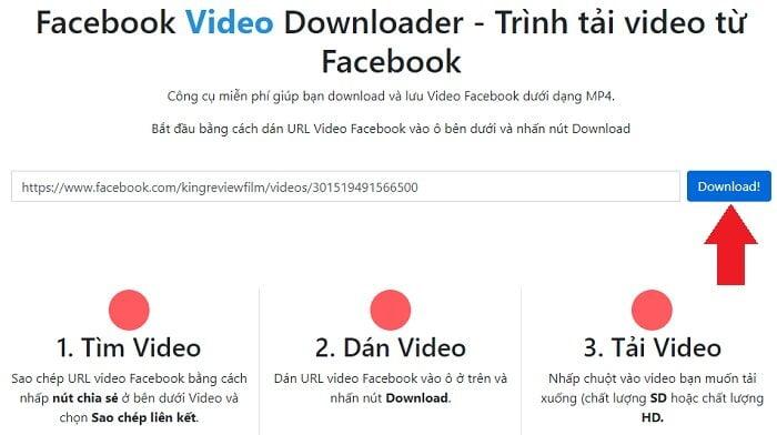 Tải Video Facebook online đơn giản nhất từ huuthuan.net 3