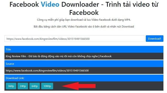 Tải Video Facebook online đơn giản nhất từ huuthuan.net 4