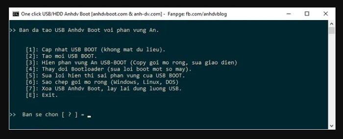 Cách tạo USB cứu hộ đa năng với công cụ AnhDV Boot 16