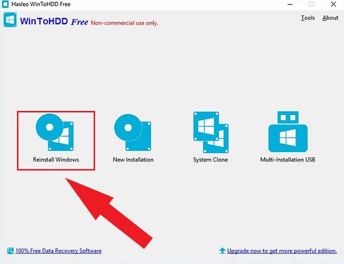 bung File ISO Windows bằng WinToHDD