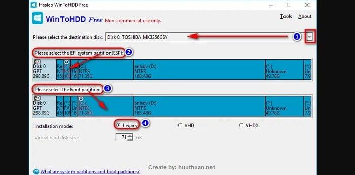 Mẹo bung File ISO Windows bằng WinToHDD đơn giản nhất 6