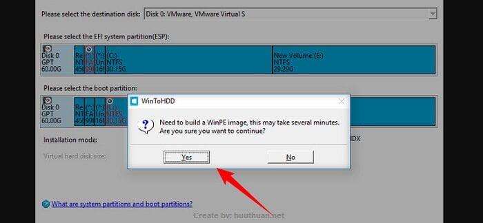 Mẹo bung File ISO Windows bằng WinToHDD đơn giản nhất 7