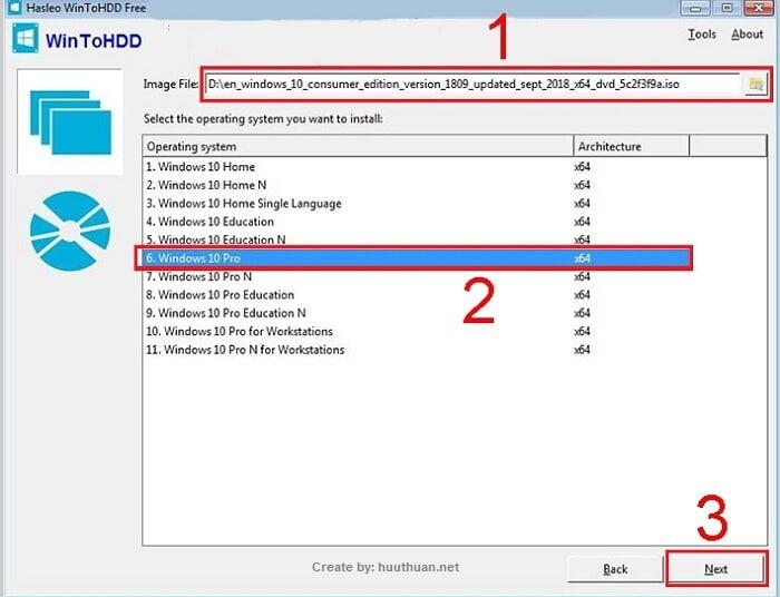 Mẹo bung File ISO Windows bằng WinToHDD đơn giản nhất 5