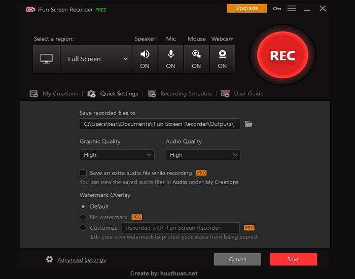 Tải phần mềm iFun Screen Recorder trình quay màn hình miễn phí, siêu nhẹ 2