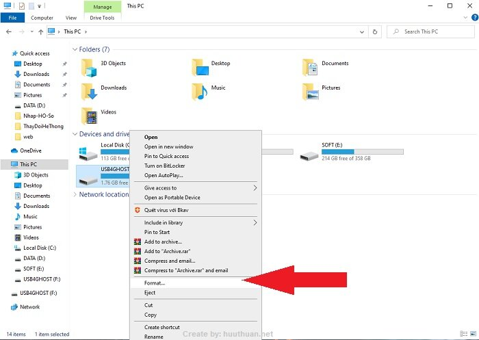 """4 mẹo Fix lỗi """"the file is too large for the destination"""" khi copy sang USB 4"""