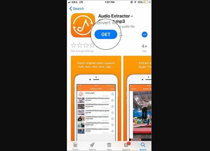 lấy nhạc từ video trên  điện thoại iPhone