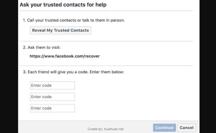 Mẹo lấy lại mật khẩu Facebook bị hack, bị quên, mất Email 19