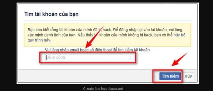 Mẹo lấy lại mật khẩu Facebook bị hack, bị quên, mất Email 8