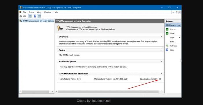 Cách kiểm tra chip TPM trên máy tính để chạy Windows 11 2