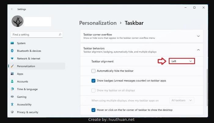 Cách tùy biến Taskbar, Start Menu Win 11 giống Win 10 đơn giản nhất 7