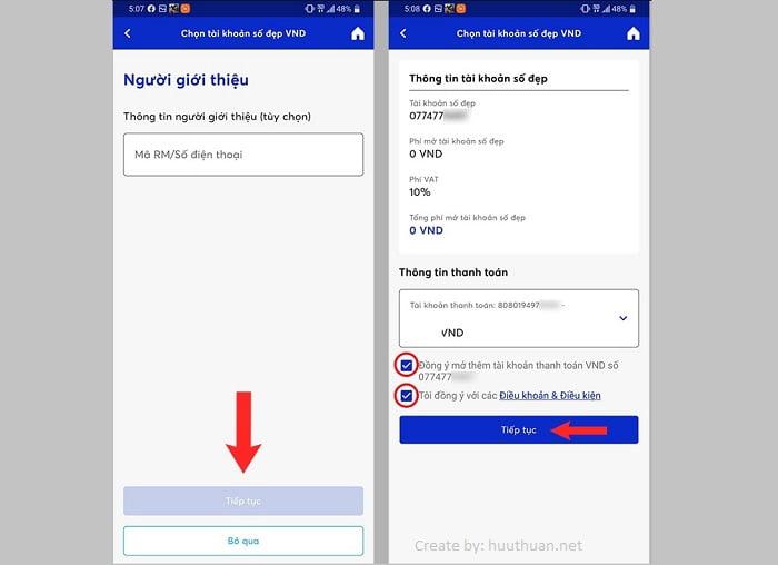 Cách chọn số tài khoản MB Bank trùng số điện thoại miễn phí 6