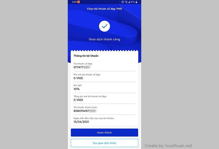 Cách chọn số tài khoản MB Bank trùng số điện thoại miễn phí 8