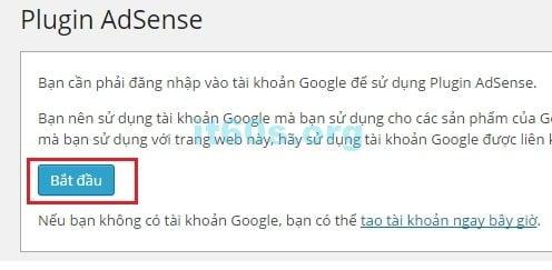 chèn quảng cáo Google Adsense vào trang Web đơn giản