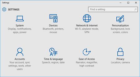 cách truy cập vào Settings trong Windows 10