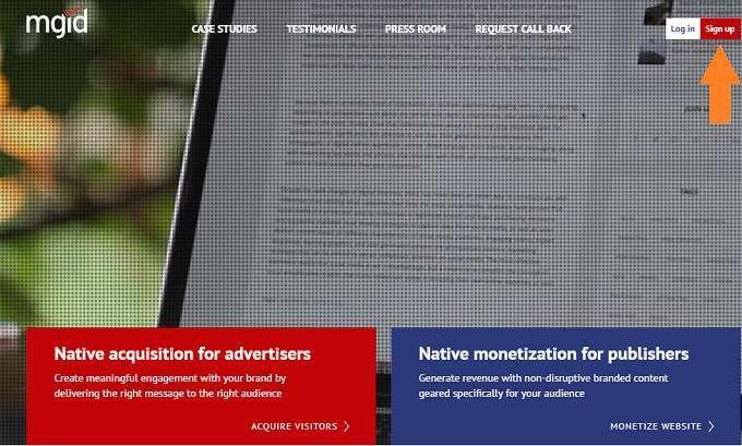 Mgid mạng quảng cáo ngữ cảnh kẻ thay thế Google Adsense
