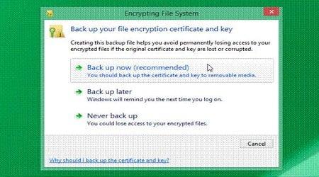 Cách mã hóa thư mục và tập tin trên hệ điều hành windows 8.1