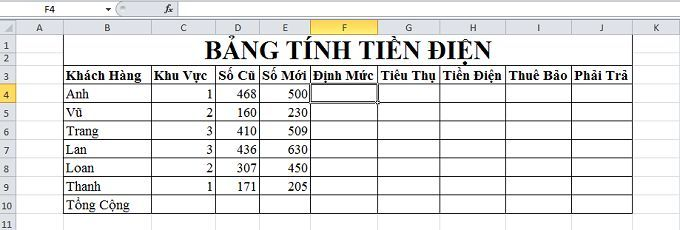 Excel căn bản: Bài tập về hàm IF có hướng dẫn giải chi tiết