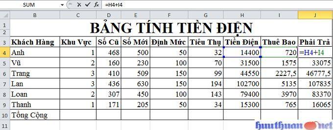 Excel căn bản: Bài tập về hàm IF có hướng dẫn giải chi tiết 4