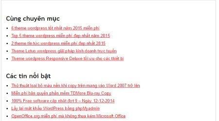 Hướng dẫn thêm bài viết cùng chuyên mục trong wordpress