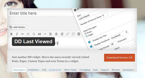 hiển thị các bài viết vừa mới xem trong WordPress đơn giản