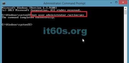 Kích hoạt tài khoản Administrator bị ẩn trên windows 8, 8.1, 10