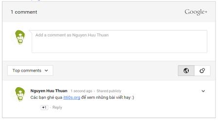 Thêm hệ thống bình luận google cho website wordpress