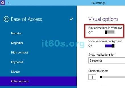 Thủ thuật máy tính vô hiệu hóa hiệu ứng trên windows 10