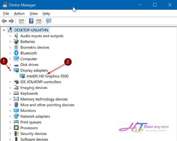 Cách cài đặt lại trình điều khiển hiển thị trong Windows 10? 2