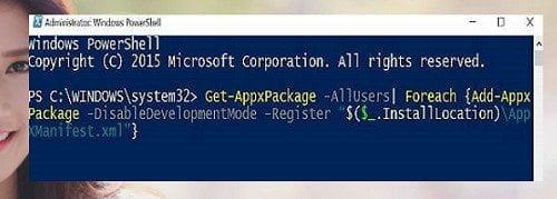 Cách cài đặt lại Windows Store và các ứng dụng khác Windows 10 2
