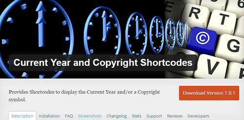 cập nhật tự động dòng Copyright trong WordPress