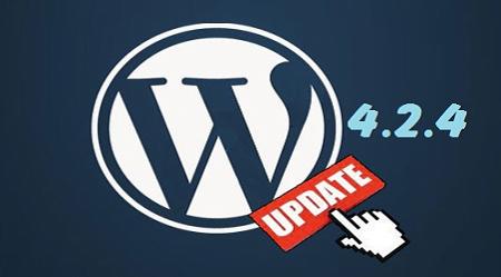 cap nhat wordpress 4.2.4 cho web