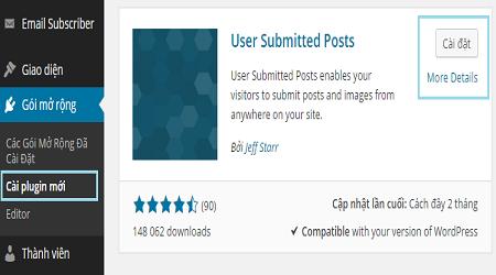 Cách cho phép độc giả gửi bài viết trên wordpress