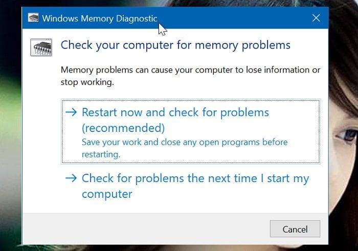 Cách chạy công cụ chẩn đoán bộ nhớ RAM trong Windows 10 2