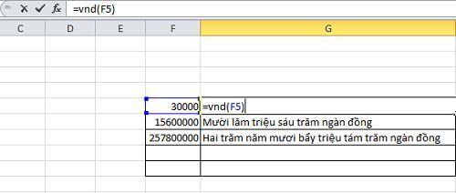 Cách đổi số thành chữ trong Excel đơn giản và dễ dàng 1